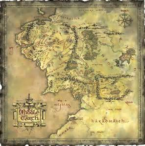 tolkien map middle earth woodge maps collection