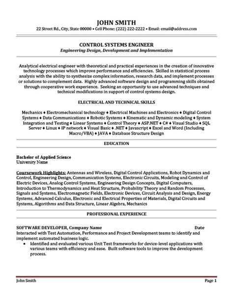 System Engineer Resume by Systems Engineer Resume Template Premium Resume