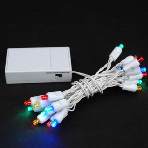 20 led battery operated christmas lights multi on white