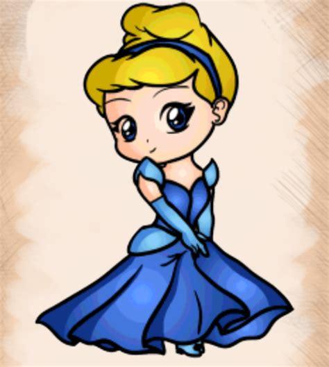 Tongsis Tombol Karakter Kartun Disney cara menggambar chibi princess goyang pensil