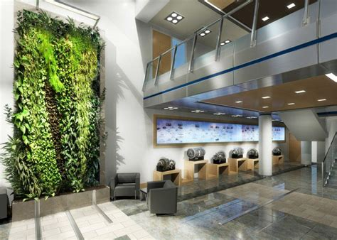 office design hamilton sundstrand lobby interior green