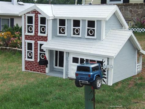 garage door mailbox image detail for and unsightly mailboxes from