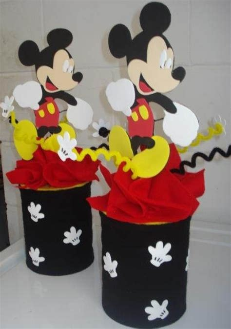 decoraciones deminnie en latas de leche dulcero con latas de leche mickey mouse pinterest