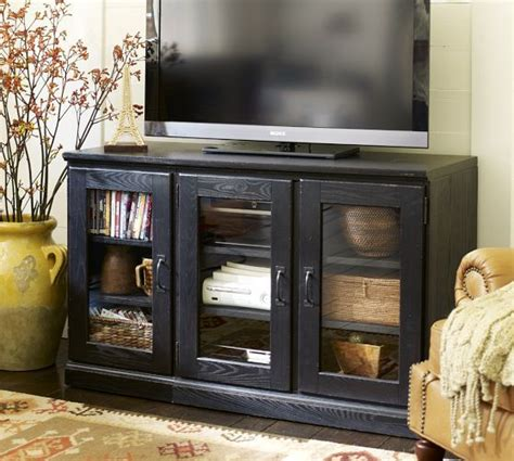 pottery barn tv cabinet printer s tv stand glass cabinet pottery barn for the