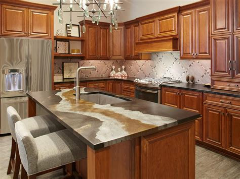 Sleek Kitchen Designs by Glass Kitchen Countertops Hgtv