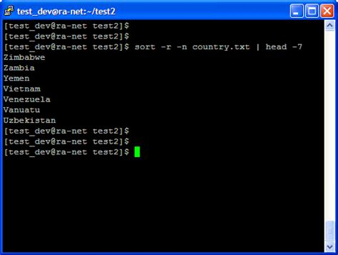 tutorial linux sort exles unix command exle sort sort content of