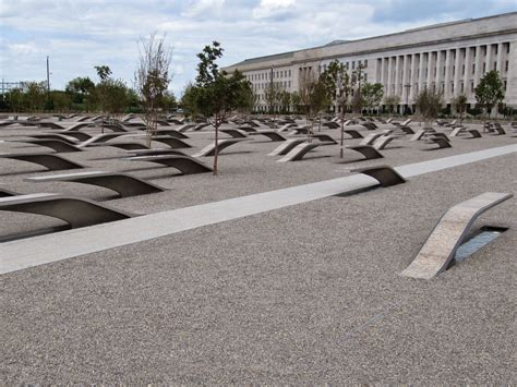 pentagon memorial benches the daily apple