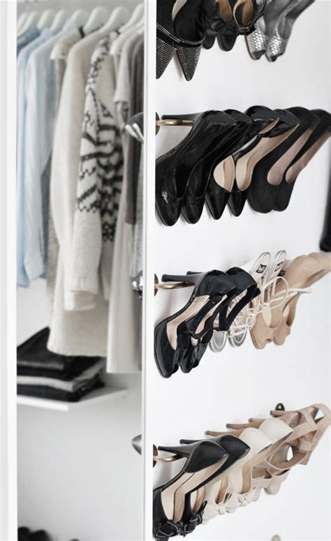 diy shoe rack for closet organization tips archives simplified bee