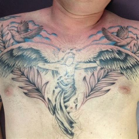 wing tattoo under breast 50 best and awesome chest tattoos for
