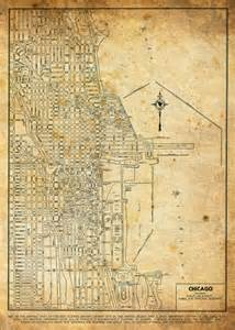 vintage chicago map unavailable listing on etsy