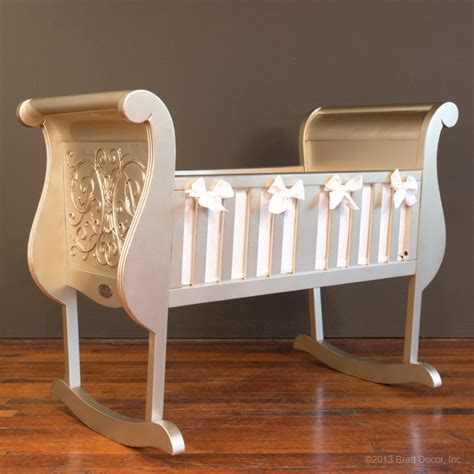 Bratt Decor Bassinet by Chelsea Cradle Antique Silver