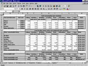 It Service Cost Model Template by A Roundwood Production Cost Model For Suriname Model