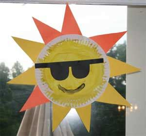 Sun Paper Plate Craft - sun safety ideas on