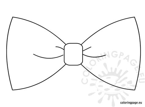 bowtie template free coloring pages of bow tie