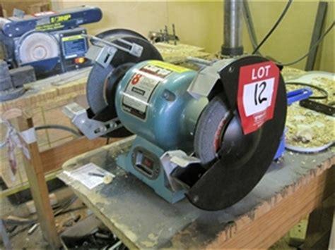 clarke bench grinder clarke metalworker 8 inch bench grinder bt1004 note bolted to bench auction 0012