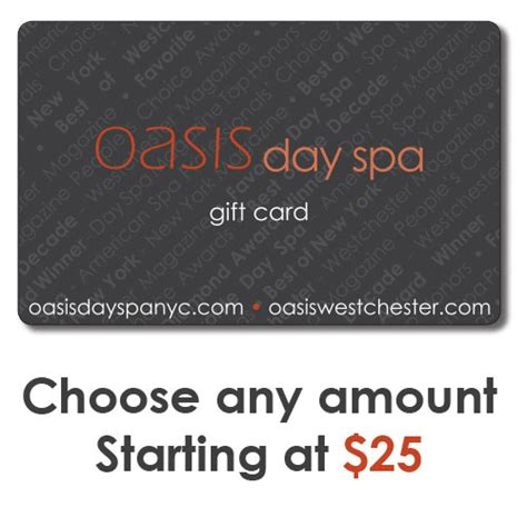 Spa Gift Cards Nyc - buy spa gift cards shop online oasis day spa spa dollar massage hydro