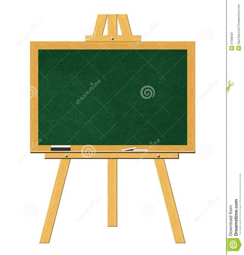 Easel Papan Tulis White Board blank blackboard with stand isolated stock image image 47588597