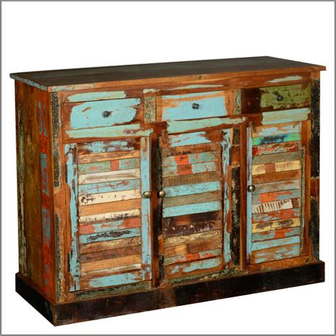distressed esszimmermöbel reclaimed wood furniture buffet cabinet 3 drawer 3 door