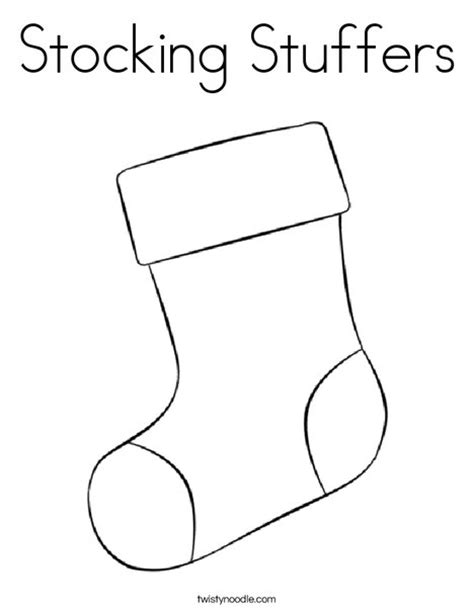 large christmas stocking coloring page stocking stuffers coloring page twisty noodle