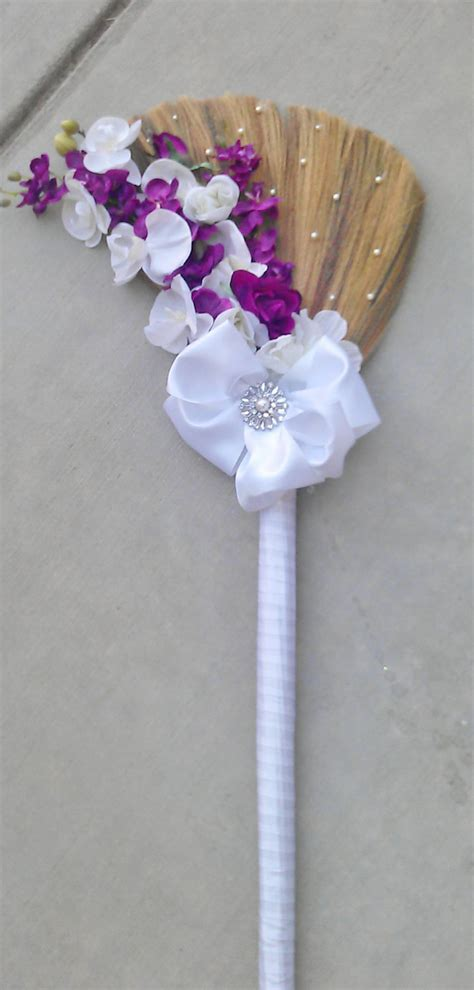 How To Decorate A Broom For A Wedding by Wedding Jump Broom