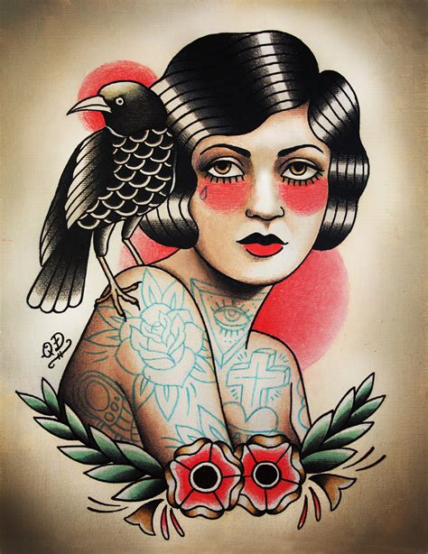 tattoo flash ravens i really like the style of this tatto and also the shade