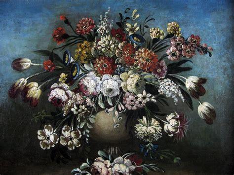 cornice di fiori natura morta di fiori con cornice intagliata e dorata