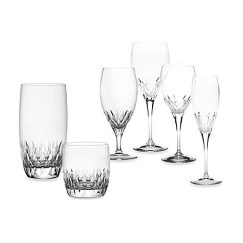 mikasa crystal barware mikasa capella crystal stemware and barware bed bath
