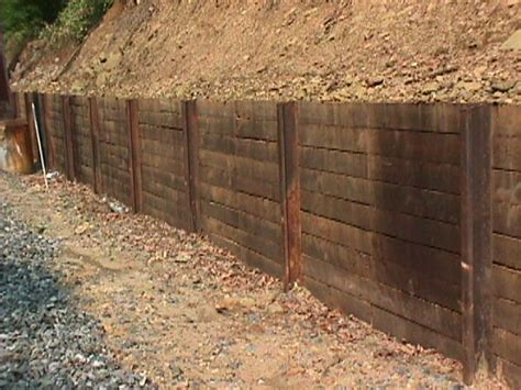 retaining wall railroad ties search yard
