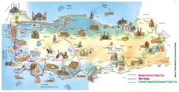 detailed travel map of turkey turkey detailed travel map