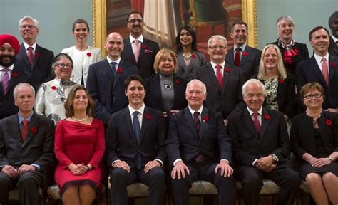 Who Are The Cabinet Ministers Of Canada by Trudeau Team Of 30 Cabinet Members Sworn In To Kick