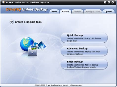 drive hq how to backup data using drivehq online backup software