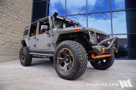 jeep wrangler grey 2015 2016 sema starwood custom gray orange jeep jk wrangler