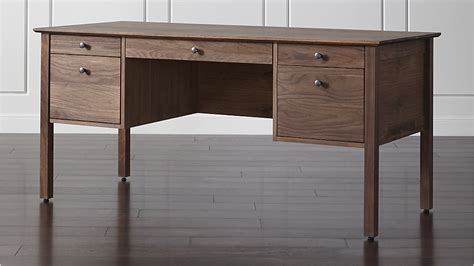 crate and barrel desk ainsworth walnut desk crate and barrel