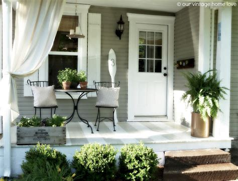 porch curtain ideas vintage home love back side porch ideas for summer and an