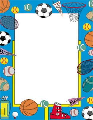 themes in sports literature sports border poster boards design size 22x28 geographics