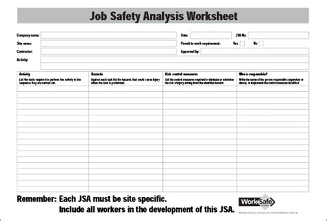 free jsa template safety analysis template 6 free word pdf documents