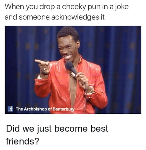 Cheeky Meme - when you drop a cheeky pun in a joke and someone