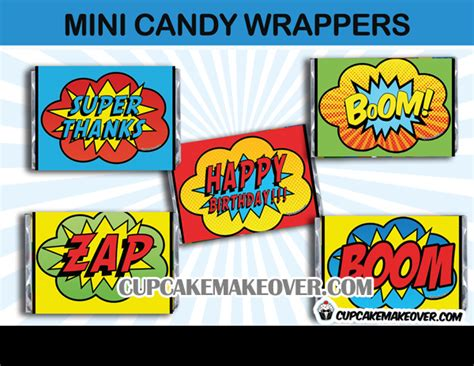 %name Free Mini Candy Bar Wrapper Template