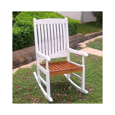 white oak outdoor furniture acacia wooden patio rocker in white oak vf 4108 wt ok