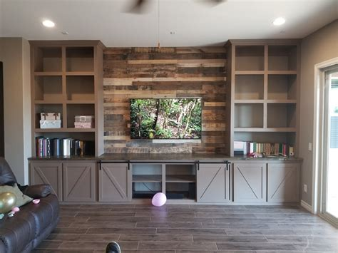 farmhouse entertainment center built  tripledigit wood