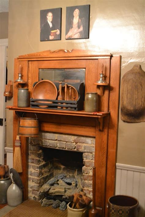 Beautiful Fireplace Country Primitive Rooms Pinterest | colonial primitive rooms and inspirational items