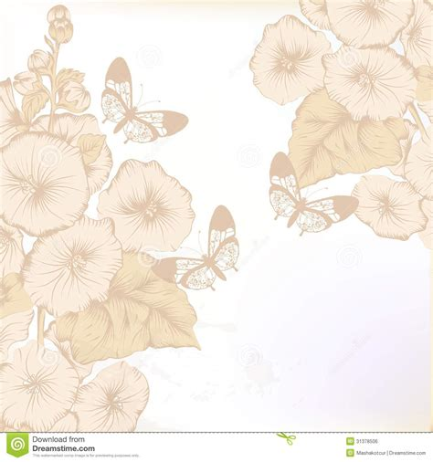 fashion elegant background with hand drawn flowers royalty hand drawn floral background in pastel color royalty free