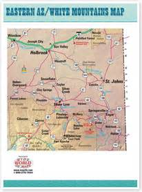 eastern arizona map deserts in arizona map