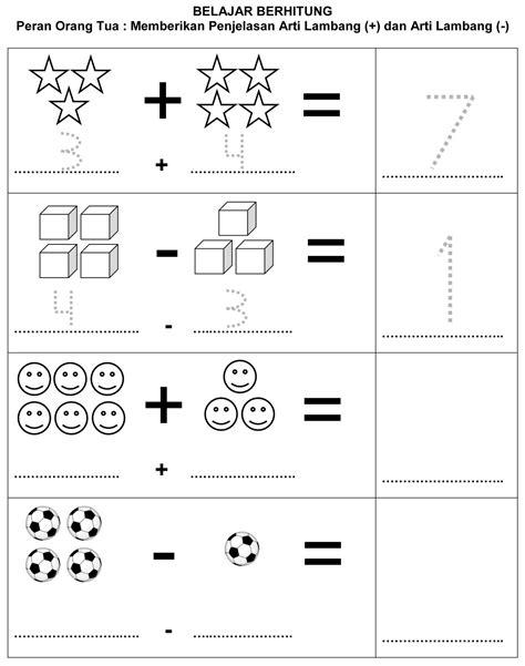Buku Anak Belajar Matematika Ceria Untuk Paud Tk belajar berhitung untuk anak tk hani dan bunga cantik