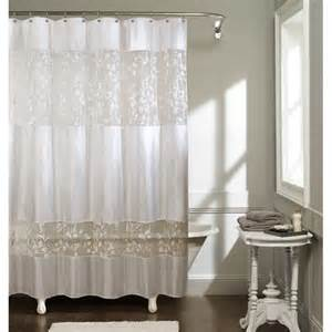 360 Shower Curtain Butterfly Shadow Fabric Shower Curtain White Unassigned