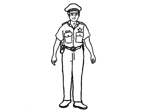 Policeman Coloring Page free printable policeman coloring pages for