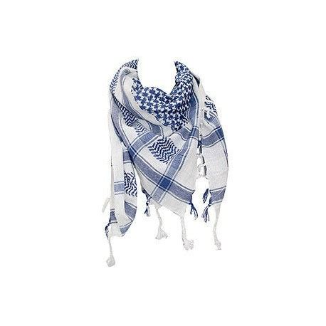 Fma Shemagh Scarf shemagh scarf blue white fringed o 220