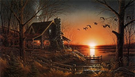 quot comforts of home quot by terry redlin legacy canvas edition
