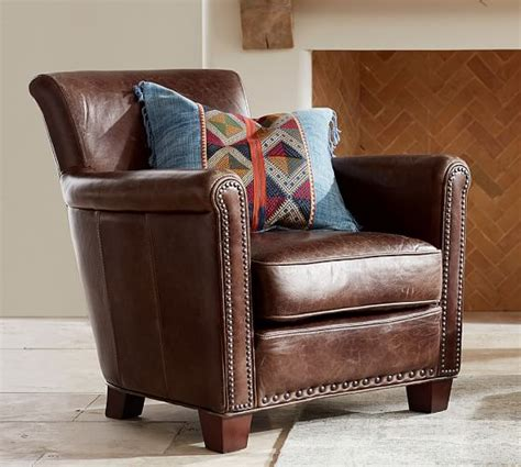 irving leather armchair 2017 pottery barn buy more save more sale save 25
