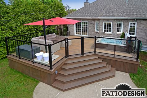 Terrasse Patio by Patio Design Construction Design De Patios Pour Un Spa